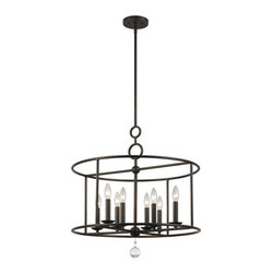 Crystorama Lighting Group - Crystorama Lighting Group 9166 Cameron 8 Light Candle Style Chandelier - Features: