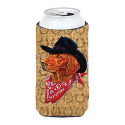 Caroline's Treasures - Vizsla Dog Country Lucky Horseshoe Tall Boy Koozie Hugger - Vizsla Dog Country Lucky Horseshoe Tall Boy Koozie Hugger Fits 22 oz. to 24 oz. cans or pint bottles. Great collapsible koozie for Energy Drinks or large Iced Tea beverages. Great to keep track of your beverage and add a bit of flair to a gathering. Match with one of the insulated coolers or coasters for a nice gift pack. Wash the hugger in your dishwasher or clothes washer. Design will not come off.