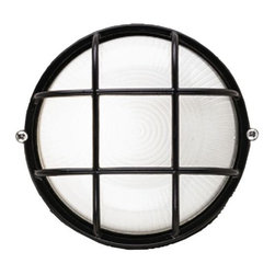 Philips Forecast Lighting - Oceanview Outdoor Wall Sconce Round by Philips Forecast Lighting - Ahoy hoy! The Forecast Oceanview Outdoor Wall Sconce Round gets its inspiration from old ship windows and reinvents the look for today's seaside styled homes. Features etched glass behind metal bands, finished in your choice of 3 distinctive colors--Black, Silver Rust or White.Dedicated to seeking customer feedback, Forecast Lighting has generated distinctive lighting designs that clearly stand out in a crowded marketplace. Founded in Southern California in the early 1970s as Forecast Lightolier, this unique lighting company has an in-house design team that travels the world to identify materials and trends that will ultimately result in extraordinary lighting for the home and office.The Forecast Oceanview Wall Sconce Round is available with the following: