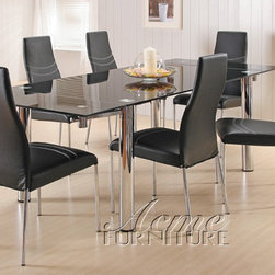 Acme Furniture - Moderno 7 Piece Dining Set - 6805-7set - Includes Table and 6 Side Chairs