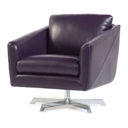 Moroni - Moroni - Jayden Top Grain Leather Swivel Chair in Joker - 530 - Is it an office chair or fashionable furniture? How about both? The Jayden chair is a swivel chair with meticulous design and constructed with 100% top-grain leather and a drop-in coil spring system on a durable metal base. It's stylish, comfortable, and perfect for any home or office -- or home office!