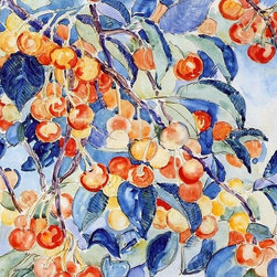 "Theo Van Rysselberghe Cherries - 16"" x 24"" Premium Archival Print - 16"" x 24"" Theo Van Rysselberghe Cherries premium archival print reproduced to meet museum quality standards. Our museum quality archival prints are produced using high-precision print technology for a more accurate reproduction printed on high quality, heavyweight matte presentation paper with fade-resistant, archival inks. Our progressive business model allows us to offer works of art to you at the best wholesale pricing, significantly less than art gallery prices, affordable to all. This line of artwork is produced with extra white border space (if you choose to have it framed, for your framer to work with to frame properly or utilize a larger mat and/or frame).  We present a comprehensive collection of exceptional art reproductions byTheo Van Rysselberghe."