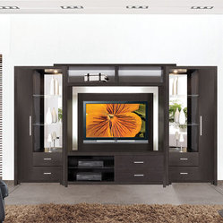 Crystal Entertainment Center Wall Unit