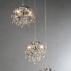 None - Links Crystal Chandelier - Add some elegance to your home with the Links crystal chandelier. This dynamic lighting element features generous rows of cascading crystals to catch the light.