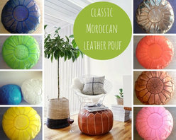 classic Moroccan leather pouf - We ♥