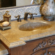Contemporary Vanity Tops And Side Splashes by Stone Passion Northeast
