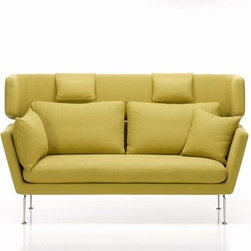 Vitra - Vitra | Suita Two Seater Sofa, Pointed Cushions with Headrest Section - Design by Antonio Citterio, 2010.