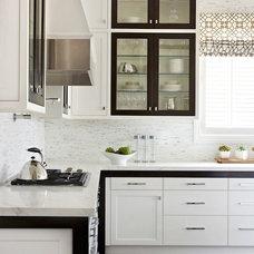 Black and White Kitchen - Contemporary - kitchen - Gluckstein Home