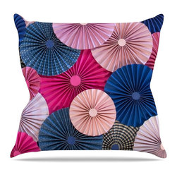 """KESS InHouse - Heidi Jennings """"Navy Pink"""" Magenta Blue Throw Pillow, Indoor, 16""""x16"""" - Rest among the art you love. Transform your hang out room into a hip gallery, that's also comfortable. With this pillow you can create an environment that reflects your unique style. It's amazing what a throw pillow can do to complete a room. (Kess InHouse is not responsible for pillow fighting that may occur as the result of creative stimulation)."""