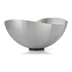 Blomus - ONDEA Versatile Bowl, Large - This lyrical piece by designer Nicolai Fuhrmann for Blomus epitomizes modern elegance. The cool, stainless steel combines with fluid lines to form an unforgettable, versatile bowl. Use for storing and displaying produce, or let it stand on its own as a graceful, sculptural piece.