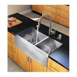 Vigo Industries - Kitchen Sink and 16 in. Faucet Set - Modernize the look of your entire kitchen with a VIGO All in One Kitchen Set.