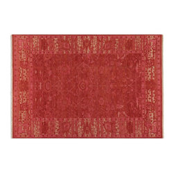 Uttermost - Uttermost Antalya 8 x 10 Rose Rug 70012-8 - Hand Knotted Wool In A Heavily Washed Shades Of Rose With Subtle Details And Beige Accents.