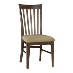 Atlantic Furniture - Atlantic Furniture Montreal Side Chair in Antique Walnut (Set of 2) - Atlantic Furniture - Dining Chairs - AD774134 - The Atlantic Furniture Montreal Dining Side Chairs are constructed from Eco-friendly solid hardwood and have an elegant Antique Walnut wood finish. This set of two dining side chairs feature a vertical slat back design and a Cappuccino colored seat cushion. The Montreal Dining Side Chairs are perfect for a casual dining room setting.