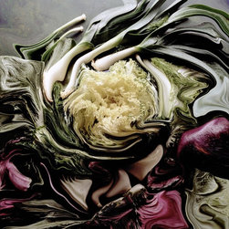 Salad Artwork - bon appetit: A Photographic Muse is a series made by manipulating food and drink photographs. The photographs were initially made to be used for advertising these products in various magazines, point of purchase, billboards, signage, and other venues.