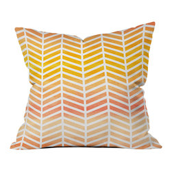 DENY Designs - Rebecca Allen Sunset Bliss Outdoor Throw Pillow - Do you hear that noise? it's your outdoor area begging for a facelift and what better way to turn up the chic than with our outdoor throw pillow collection? Made from water and mildew proof woven polyester, our indoor/outdoor throw pillow is the perfect way to add some vibrance and character to your boring outdoor furniture while giving the rain a run for its money.