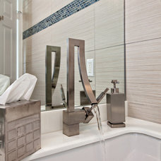 Contemporary Powder Room by Sand Castle Designs