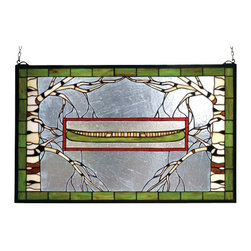 Meyda - 28 Inch W X 18 Inch H North Country Canoe Window Windows - Color Theme: Vasdy Ca Zasdy Ha Red 59