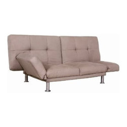 Fine Mod Imports - Micro Twill Modern Sofa Bed in Taupe - Versatility of form and simplicity that will work comfortably in any setting. Conversion from couch to bed is very simple.