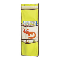 Whitmor - Fox Over-the-Door Pocket Organizer - Featuring sturdy canvas for years of use and an adorable design, this kid-friendly organizer adds instant storage to the play area. It's roomy enough to hold plenty of books, magazines and more.   14'' W x 40'' H Canvas Imported
