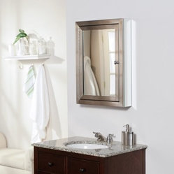 Afina Metro Surface Mount Medicine Cabinet - 20W x 28H in. - Add some stylish sheen to your ...