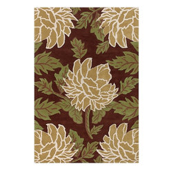 Chandra - Chandra Rowe Transitional Hand Tufted Floral Rug X-DR97-90111WOR - Chandra Rowe Transitional Hand Tufted Floral Rug X-DR97-90111WOR