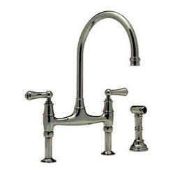 Rohl U.4719L-PN-2 Perrin And Rowe Bridge Faucet w/Sidespray In Polished Nickel -