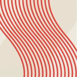 BN Wallcoverings - Red Wavy Stripe Noise Wallpaper - Double Roll - Red Wavy Stripe Noise Wallpaper is unpasted and has 25. 2 inches pattern repeat. Collection name: Correggio Size of each double roll is 21 inches x 33 feet. Each double roll covers about 57. 75 square feet / 5. 36 square meters. Made in Europe.