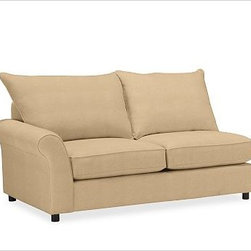 PB Comfort Roll Arm Upholstered SectionalLeft Arm Loveseat Knife-EdgeUpholstered - Built by our own master upholsterers in the heart of North Carolina, our PB Comfort Upholstered Sectional Components are designed for unparalleled comfort with deep seats and three layers of padding. {{link path='pages/popups/PB-FG-Comfort-Roll-Arm-4.html' class='popup' width='720' height='800'}}View the dimension diagram for more information{{/link}}. {{link path='pages/popups/PB-FG-Comfort-Roll-Arm-6.html' class='popup' width='720' height='800'}}The fit & measuring guide should be read prior to placing your order{{/link}}. Choose polyester wrapped cushions for a tailored and neat look, or down-blend for a casual and relaxed look. Choice of knife-edged or box-style back cushions. Proudly made in America, {{link path='/stylehouse/videos/videos/pbq_v36_rel.html?cm_sp=Video_PIP-_-PBQUALITY-_-SUTTER_STREET' class='popup' width='950' height='300'}}view video{{/link}}. For shipping and return information, click on the shipping tab. When making your selection, see the Quick Ship and Special Order fabrics below. {{link path='pages/popups/PB-FG-Comfort-Roll-Arm-7.html' class='popup' width='720' height='800'}} Additional fabrics not shown below can be seen here{{/link}}. Please call 1.888.779.5176 to place your order for these additional fabrics.