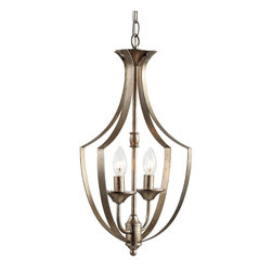 "Trans Globe Lighting - Trans Globe Lighting 70301 Silver Leaf  Traditional Pendant Light - Includes 6' wire and chain for height adjustments. Attaches to 5"" round matching ceiling canopy. Antique Silver Leaf finish."