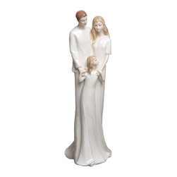 US - 12 Inch Porcelain 3 Figure Grouping of Parents and Child Holding Hands - This gorgeous 12 Inch Porcelain 3 Figure Grouping of Parents and Child Holding Hands has the finest details and highest quality you will find anywhere! 12 Inch Porcelain 3 Figure Grouping of Parents and Child Holding Hands is truly remarkable.