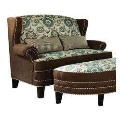 Chelsea Home Furniture - Chelsea Home Cornelious Settee in Voyager Cobblestone - Brown Eyed Girl - Cornelious Settee in Voyager Cobblestone - Brown Eyed Girl belongs to the Chelsea Home Furniture collection