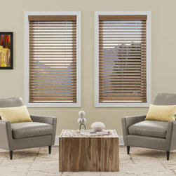 "Simply Chic - Kellie Clements Simply Chic 2-inch Faux Wood Blinds - Kellie Clements Simply Chic 2"" Faux Wood Blinds are made from a blend of real American hardwood and advanced thermal polymers for blinds of unparalleled beauty and durability."
