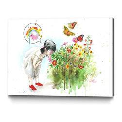 Eyes on Walls - Eyes on Walls Lora Zombie Magic Garden - Giclee printing on canvas with extreme color gamut and photographic print quality. The result is a high-performance, solvent-based ink technology with stunning color gamut and accuracy, with less impact on the environment.