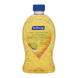 COLGATE/PALMOLIVE - SOFTSOAP KITCHEN FRESH HANDS GEN PURP LIQ SOAP - Neutralize kitchen odors. Crisp, clean citrus formula infused with moisture beads to soften hands. Washes away bacteria.. . . . . 28-oz. Refill. . . Softsoap® Kitchen Fresh Hands Hand Soap. Dimensions: Height: 0.70833, Length: 0.75, Width: 0.71667. Country of Origin: US