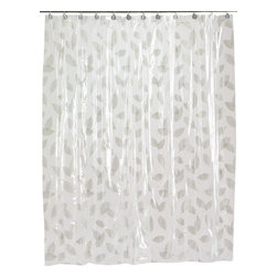 """""""Autumn Leaves"""" Vinyl Shower Curtain in Silver - """"Autumn Leaves"""" Silver 5 gauge vinyl print shower curtain, size 72""""x72"""". Prepare your bathroom for Fall with our """"Autumn Leaves"""" Vinyl Shower Curtain. Made of a durable, heavy (5 gauge) vinyl, this standard-sized (72'' x 72'') curtain is water repellant and wipes clean easily. Here with leaves of Silver, """"Autumn Leaves"""" is also available in Burgundy. Wipe clean with damp sponge with warm soapy cleaning solution"""