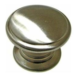Richelieu Hardware - Richelieu Classic Metal Knob Beveled Rim 32mm Nickel - Richelieu Classic Metal Knob Beveled Rim 32mm Nickel