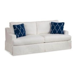 """Slipcovered Furniture - Sausalito Slipcovered Sofa is styled for relaxed casual living available in an array of soft 100% natural cotton, linen and hemp fabrics. Dimensions: 81""""w x 37""""d x 38""""h- Arm 24""""h, Seat 21""""d x 21""""h Bench, Two or Three cushion"""
