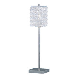 Eglo - Pyton 1 Light Table Lamp - Pyton 1 Light Table Lamp in Chrome Finish and Genuine Lead Crystal