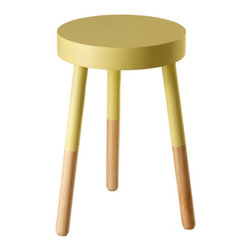 Sunny Side Up Stool - This color-blocked stool will add a bright pop of sunshine to your bedroom. Don't just use it for sitting, but step on up to grab those retro high heels stored at the top of your closet.