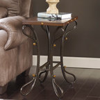 "Signature Design by Ashley - Signature Design by Ashley Everleaux Chairside End Table 24"" Height x 14.5"" Widt - Everleaux Chairside End Table 24"" Height x 14.5"" Width x 25"" Depth T612-7"