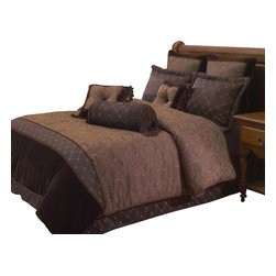 Hallmart Collectibles - Opulent Paisley 9 PC Queen Comforter Set (King) - Choose Size: King. 9 piece set. Dry clean only. Made of Polyester