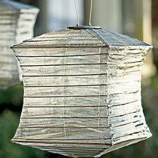 Asian Outdoor Lighting Silk Effects Solar Lantern