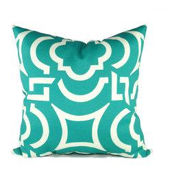 Land of Pillows - Richloom Solarium Carmody Pillow, Peacock - Fabric Designer - Richloom Solarium