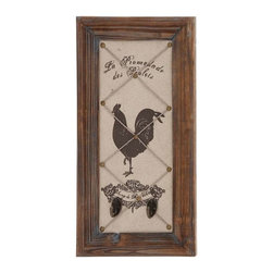 Benzara - Countryside Themed Classy Wall Hook Decor - Countryside Themed Classy wall hook decor. Add the touch of countryside to spruce-up your home with this rooster designed wall hook decor. Some assembly may be required.
