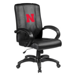 Dreamseat Inc. - University of Nebraska NCAA Cornhuskers Home Office Chair - Check out this Awesome - it's one of the coolest things we've ever seen. Features a zip-in-zip-out logo panel embroidered with 70,000 stitches. Converts from a solid color to custom-logo furniture in seconds - perfect for a shared or multi-purpose room. Root for several teams? Simply swap the panels out when the seasons change. This is a true statement piece that is perfect for your Man Cave or Home Office, and it's a must-have for the person who wants to personalize their work space.