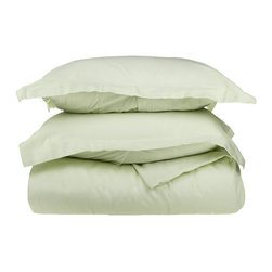 300 Thread Count Egyptian Cotton Twin Mint Solid Duvet Cover Set - 300 Thread Count Egyptian Cotton Twin Mint Solid Duvet Cover Set