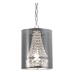 Zuo Modern - Zuo Modern Byrion Ceiling Lamp in Translucent - Ceiling Lamp in Translucent belongs to Byrion Collection by Zuo Modern Glamour and elegance is all bundled into one smashing ceiling lamp. The Byrion ceiling lamp boasts strung crystals shielded by a metallic shade. The base is chrome. The lamp is UL approved. Lamp (1)