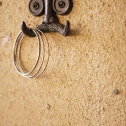 Cast Iron Mustache Hook - Everyone loves a mustache these days! Show your quirky side by hanging your kitchen or bar towels on this guy.