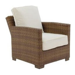 Panama Jack - Panama Jack St. Barth's Aluminum Recliner Lounge Chair - Escape to your very own Caribbean paradise with The St Barth's collection by Panama Jack. The Recliner Lounge Chair incorporates an extruded aluminum frame with an exclusive thick woven wicker fiber from Viro and is strong and durable. A fast drying cushion of polyester fabric as shown compliments the Loveseat to provide extra support. For an additional charge you can upgrade to a high quality Sunbrella fabric cushion with a variety of colors and patterns to choose from to match your outdoor decor. It can be paired with other items in this collection to create the ultimate Caribbean paradise in your home patio. The St. Barth's collection by Panama Jack incorporates an extruded aluminum frame with an exclusive thick woven wicker fiber from Viro. The arms on the lounge chair and loveseat are thick and provide a comfortable arm rest. Fast drying cushions with outdoor polyester fabric are included and are suitable for all year around use outdoor.More than three decades ago the Original Panama Jack suncare products were quietly introduced on Florida's beaches. Word gets around in a beach town. Like the sand in their shoes and the sunset memories in their minds loyal locals and visitors alike took Panama Jack home with them to Main Street America and to the world. Since those early days Panama Jack established a following that extends far beyond stretches of pure white sand. Made with Love Care and Pride since 1974 Panama Jack is committed to bringing the feeling of escape fun adventure and the lifestyle of the tropics to people everywhere. They will continue to deliver products that provide you with even more freedom to enjoy what's most meaningful to you and your family. Features include Outdoor Recliner with cushion Constructed of extruded aluminum frame that will not rust Weather and UV resistant Reclining Mechanism Cushion as shown included with Polyester Fabric Premium Sunbrella Fabric can be sel