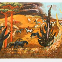 Millard Owen Sheets, Summer Gold, Lithograph - Artist:  Millard Owen Sheets, American (1907 - 1989)